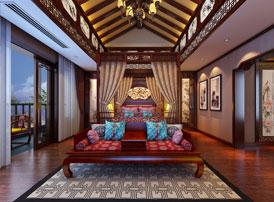 常州得园古典中式风格别墅装修效果图 贵气芳华,大家风范