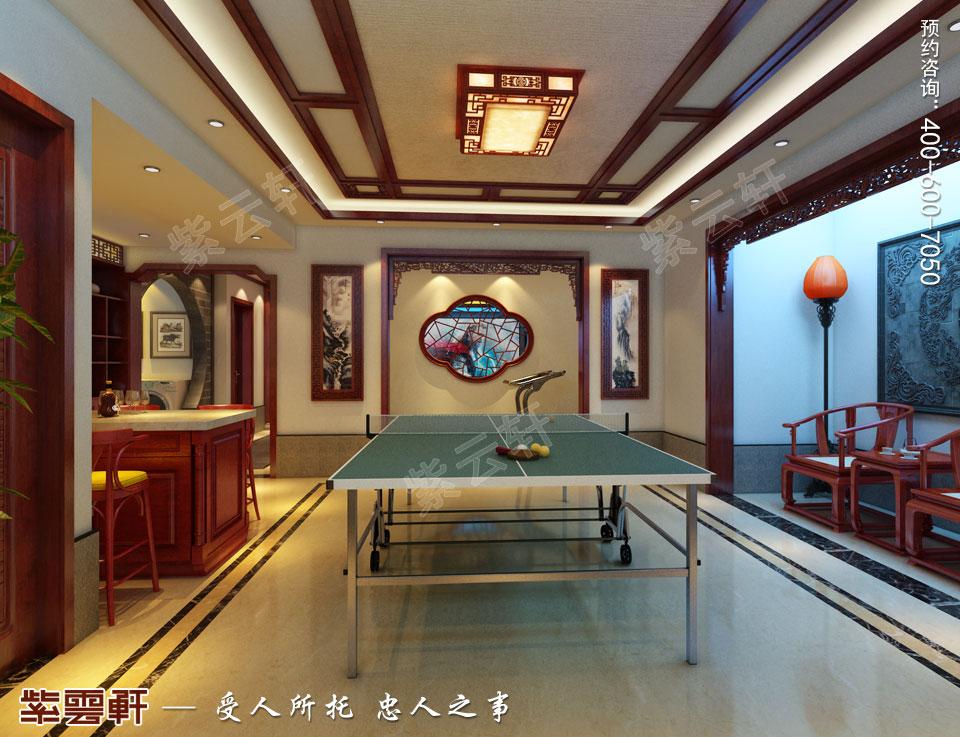 古典中式风格别墅装修健身室效果图