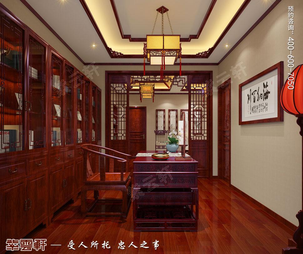 中式效果图之书房设计