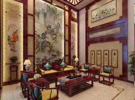 天津武清别墅现代中式风格装修效果图--幽静安然 木香袅袅