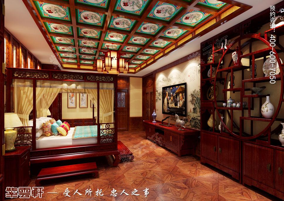 长治古典中式风格独栋别墅装修图,紫云轩对传统文化的