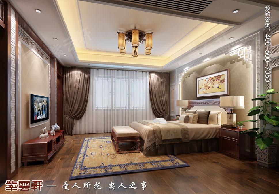 女主卧室简约现代中式装修设计效果图
