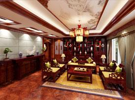 长治古典中式风格独栋别墅装修图,紫云轩对传统文化的出色诠释