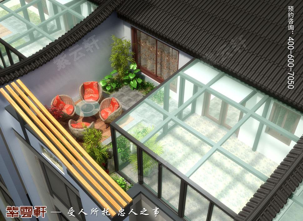 阳台简约现代中式装修设计效果图