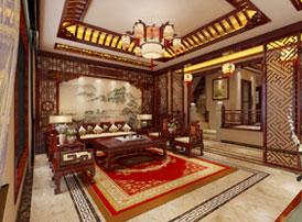 江西南昌别墅现代中式装修效果图 雍容闲雅,气质出众