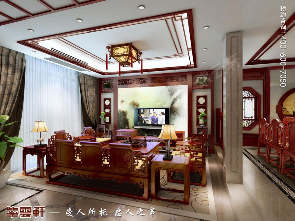 中式效果图之客厅设计
