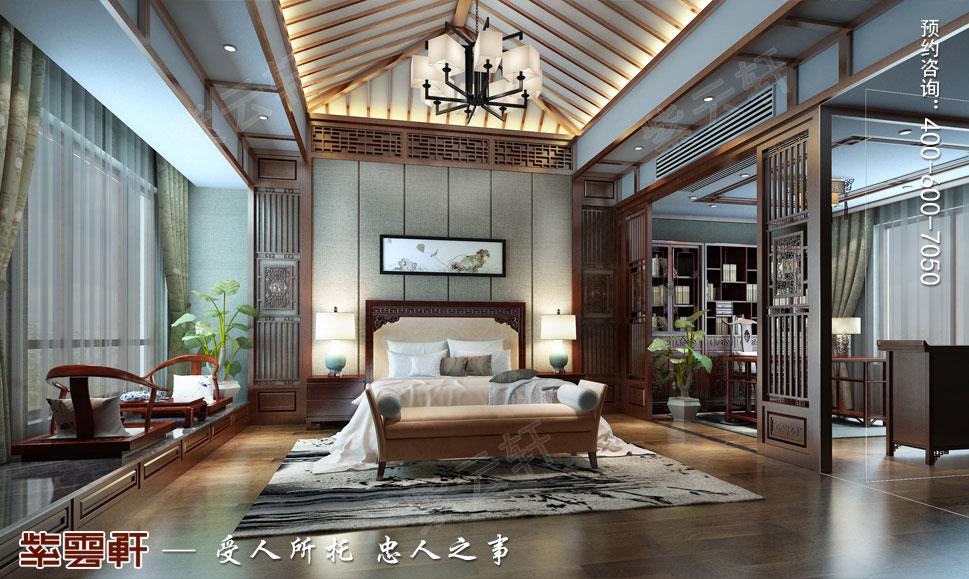 中式效果图之卧室设计