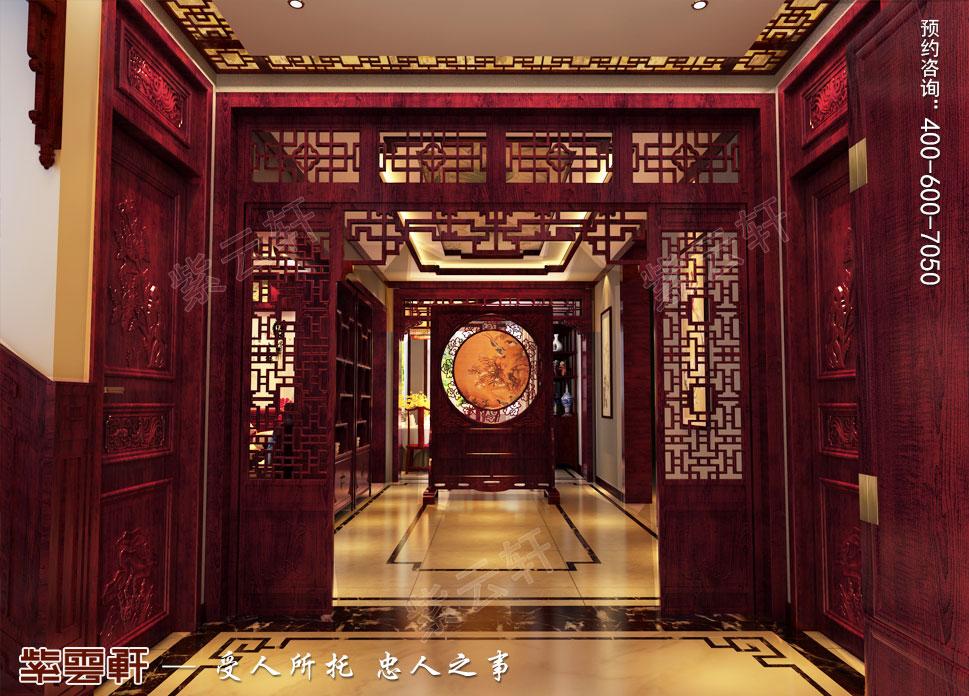 别墅门厅古典中式装修风格
