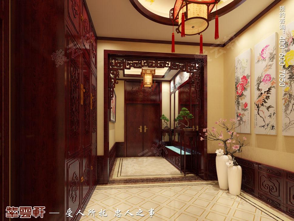 别墅门厅古典中式装修效果图