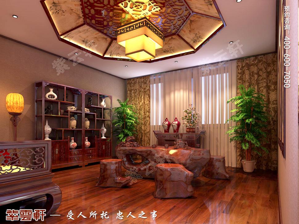 古典中式风格别墅<a href=http://www.bjzyxuan.com/chashizhs/ target=_blank class=infotextkey>茶室装修效果图</a>