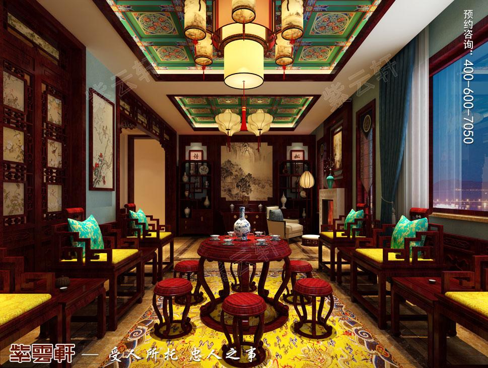 别墅中堂古典中式装修效果图