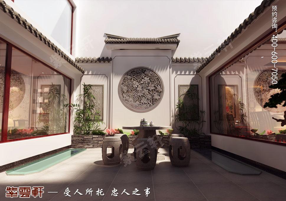 别墅露台古典中式装修风格