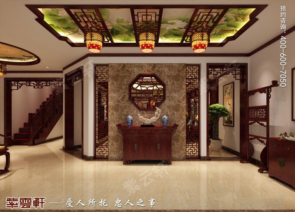 别墅玄关古典中式装修风格