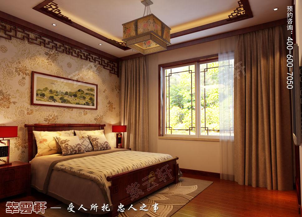 别墅老人房古典中式装修风格