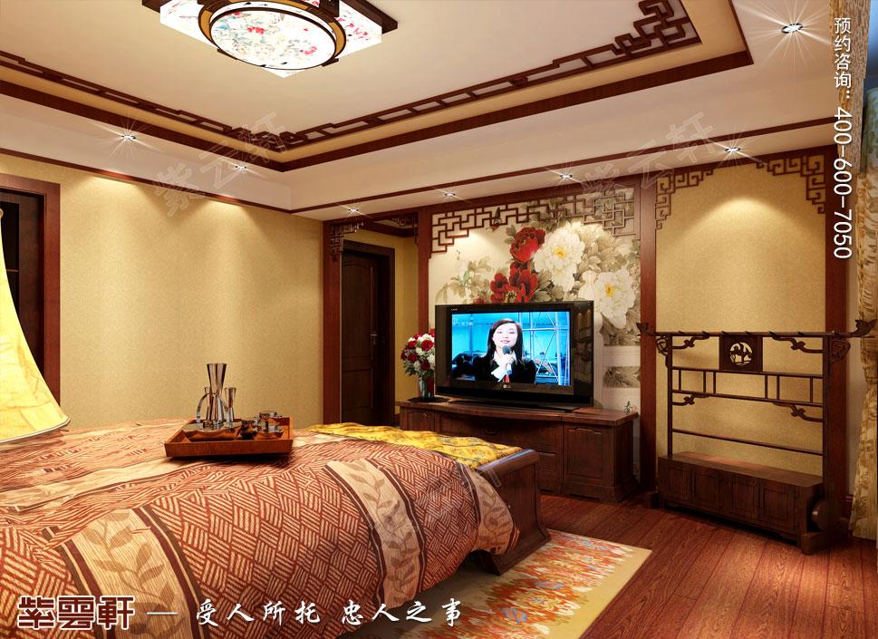 别墅主卧室简约古典中式装修图片