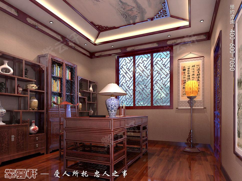 古典中式风格别墅<a href=http://www.bjzyxuan.com/shufangzhs/ target=_blank class=infotextkey>书房装修效果图</a>