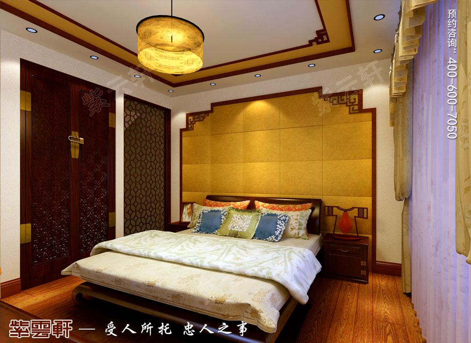 别墅客房简约古典中式装修图片