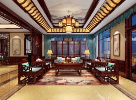 北京御汤山古典中式别墅装修效果图,与众不凡的深邃华丽 沉稳大方