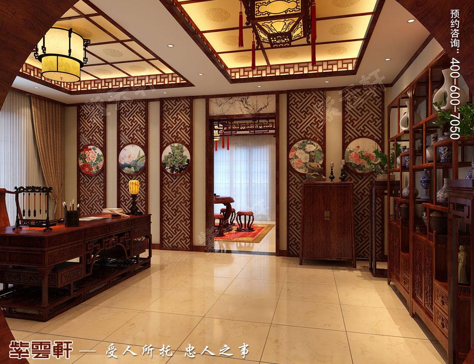 复古中式别墅<a href=http://www.bjzyxuan.com/shufangzhs/ target=_blank class=infotextkey>书房装修效果图</a>