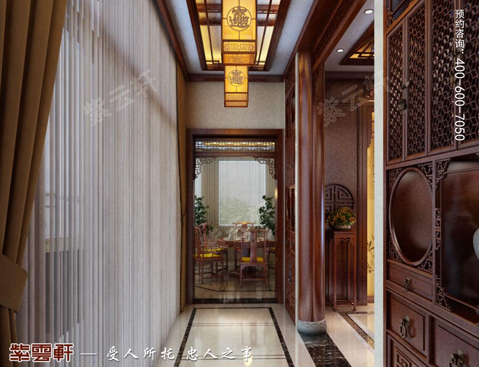 别墅中式装修玄关.jpg
