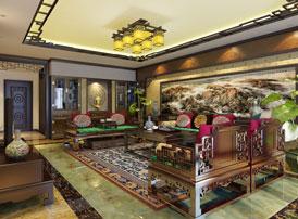 简约古典中式设计南京别墅装修案例欣赏--古木檀香 悠然成趣