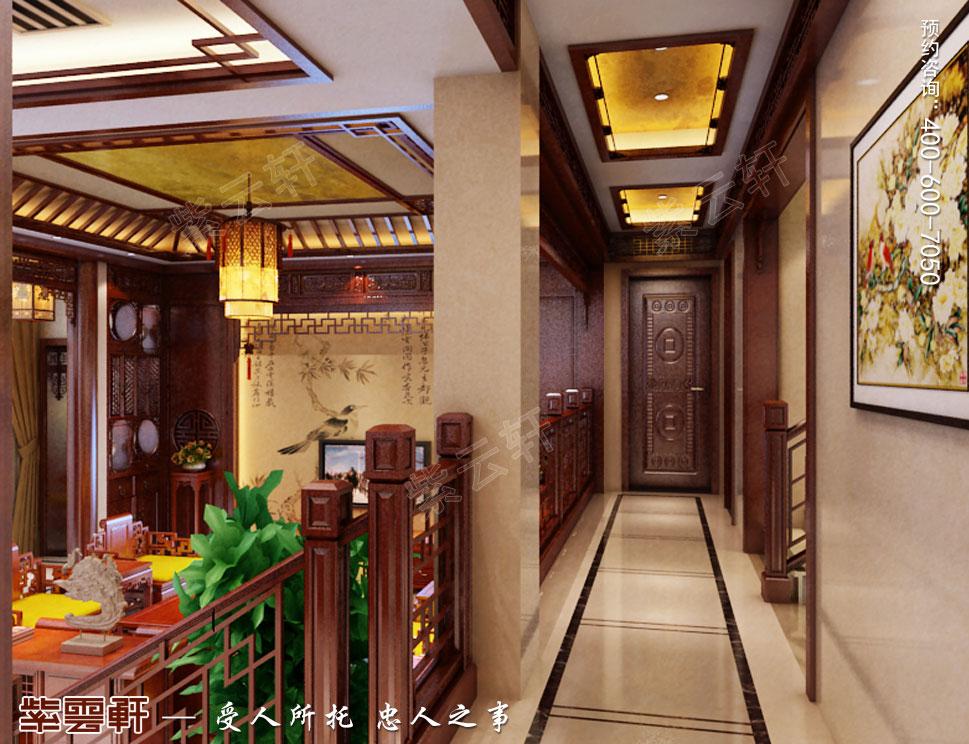 别墅中式装修一楼过道.jpg