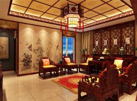 北京御汤山李总别墅装修效果图,复古中式风格带你穿越回书香世家