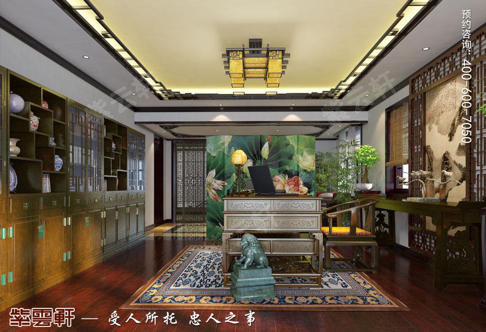 简约古典中式设计别墅老人房效果图