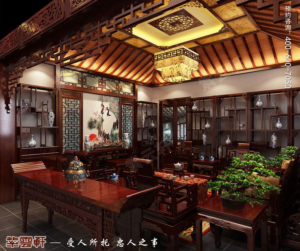 别墅客厅装修中式效果图