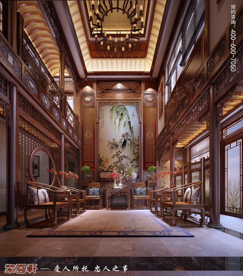 中堂纯古典中式别墅装修效果图