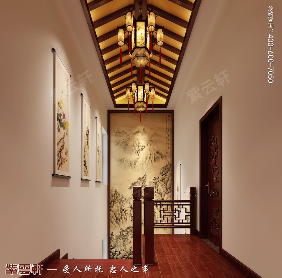 别墅中式装修走廊.jpg
