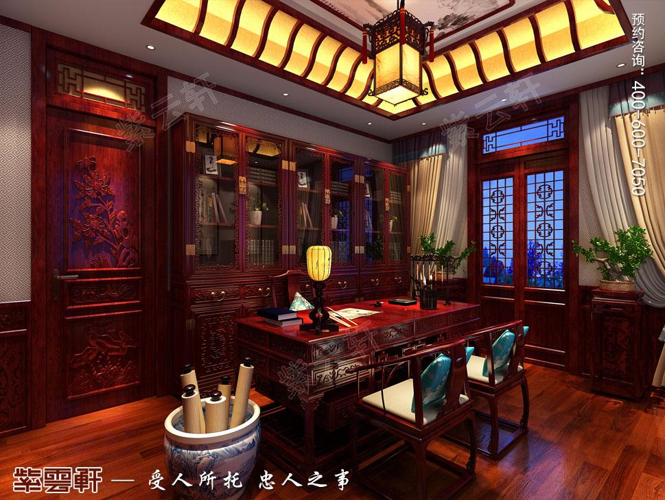 别墅书房传统风格装修图片