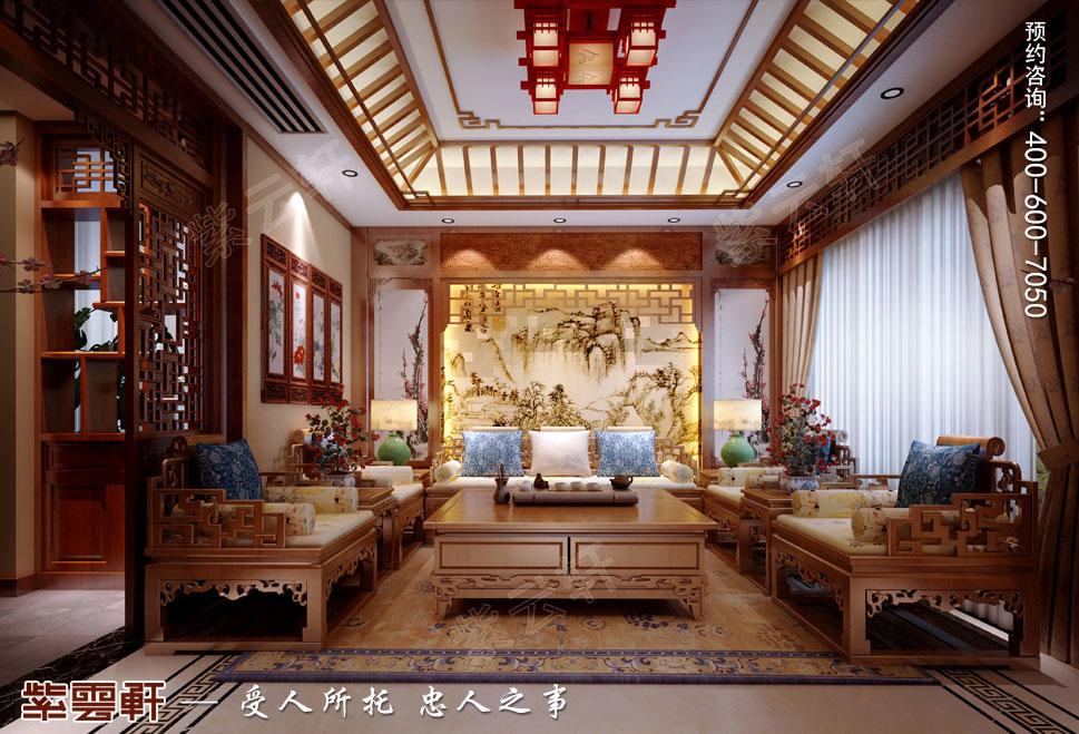 客厅纯古典中式别墅装修效果图