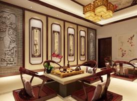 河北邢台白总豪华别墅古典中式装修案例  雍容富贵,尽享荣华