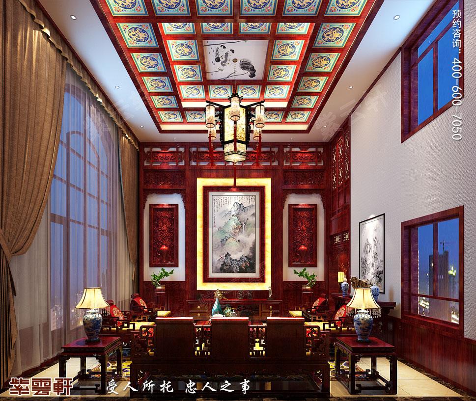 别墅客厅传统风格装修图片