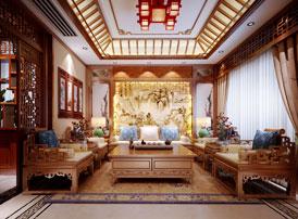 南京纯古典中式别墅装修效果图,中式豪宅装修的典范之作