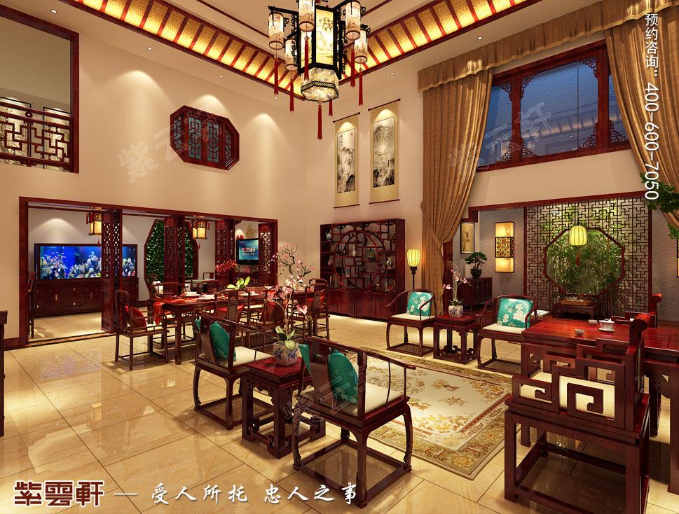 别墅中式装修大厅.jpg