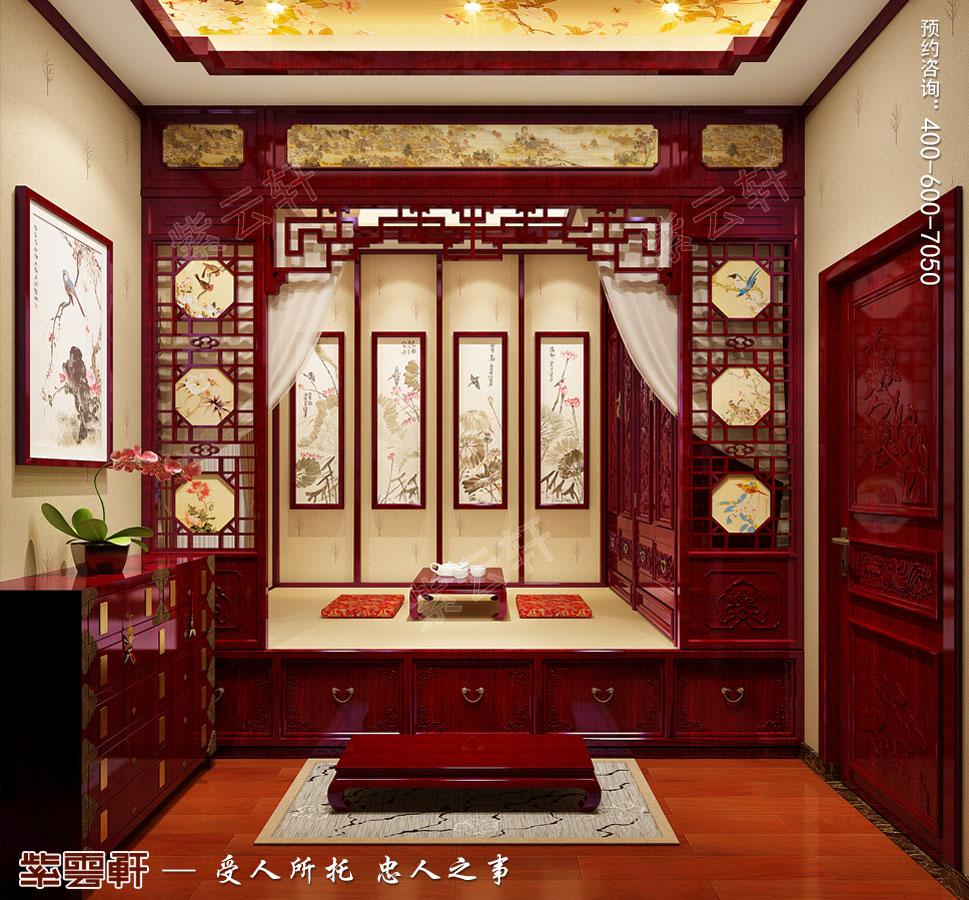 别墅客卧现代中式风格装修效果图