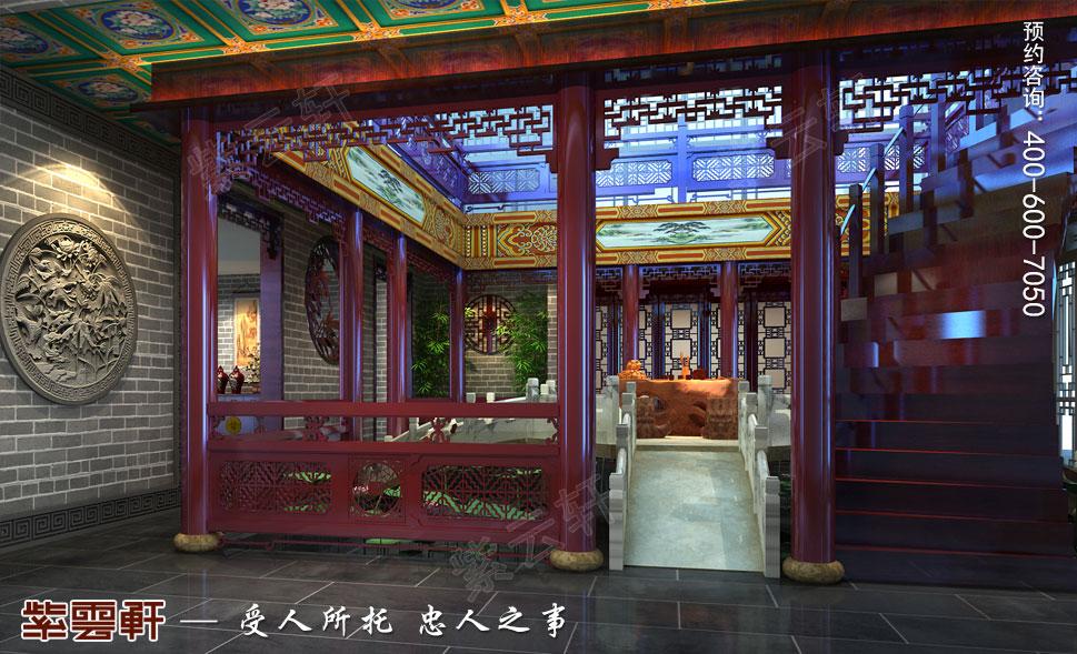 别墅中庭苑古典中式装修风格