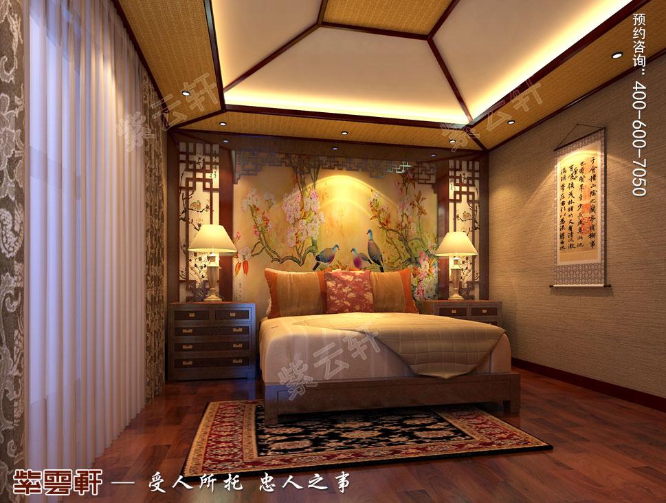 别墅主卧室古典中式装修风格