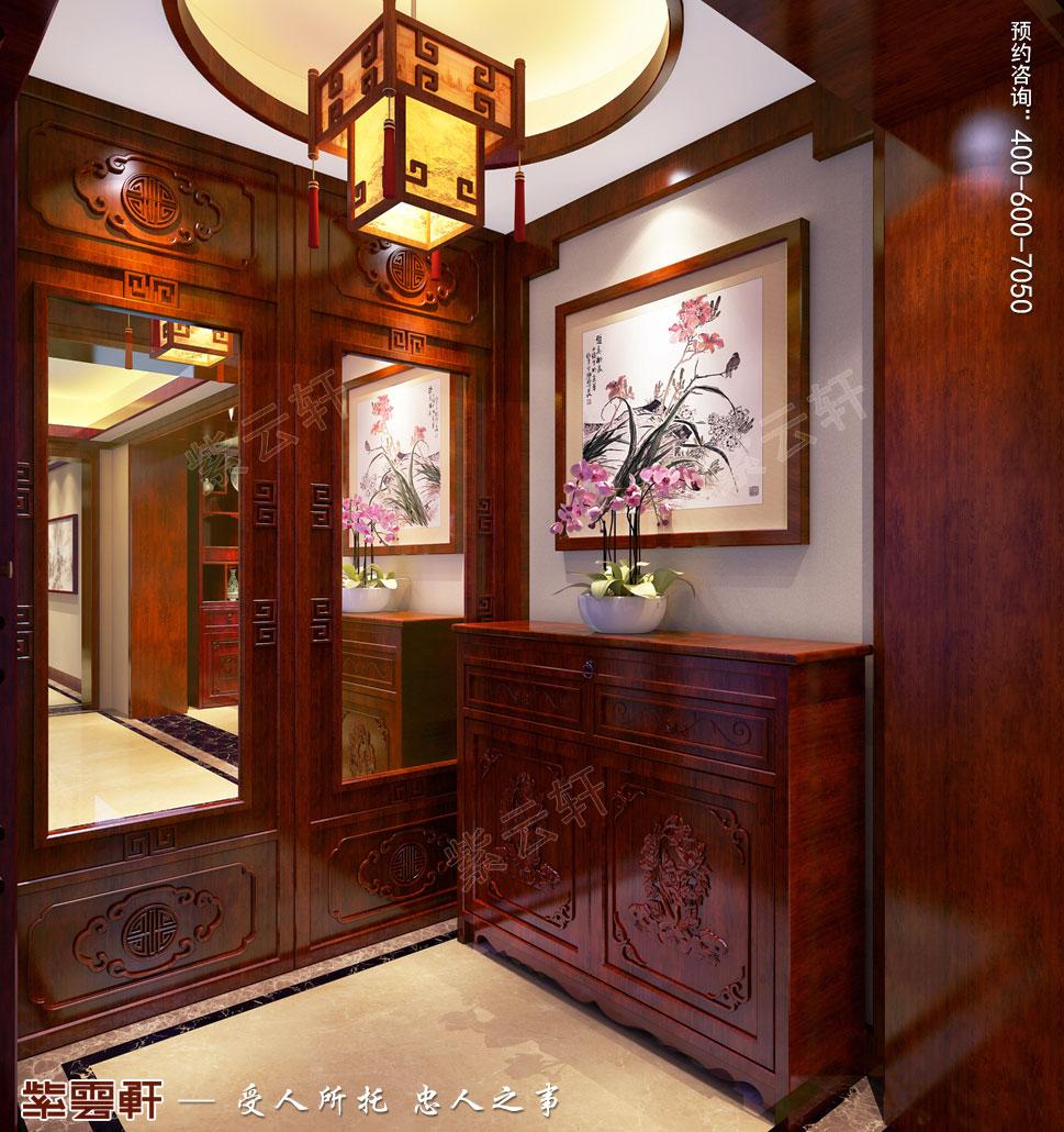 别墅玄关现代中式风格装修效果图