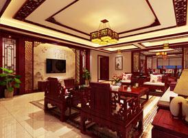 现代中式风格别墅装修效果图,古韵古香  稳重儒雅