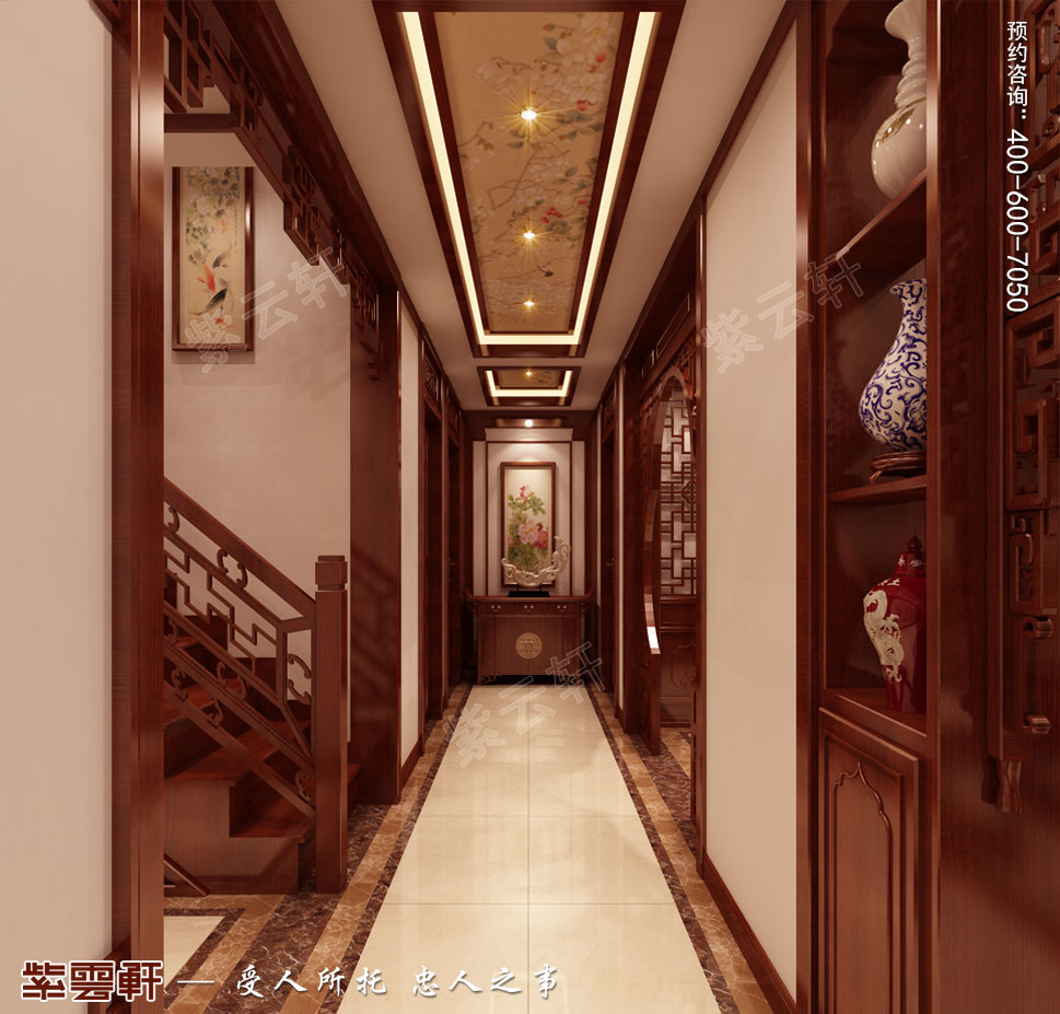 别墅过道简约中式装修风格