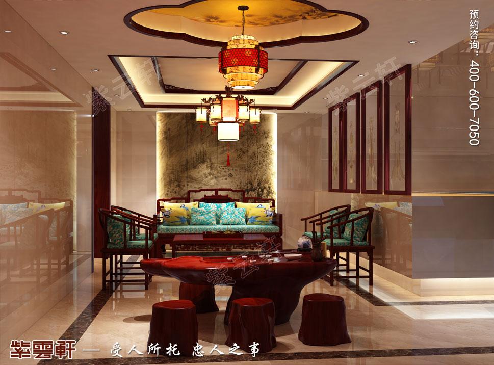 中式别墅装修休息区效果图