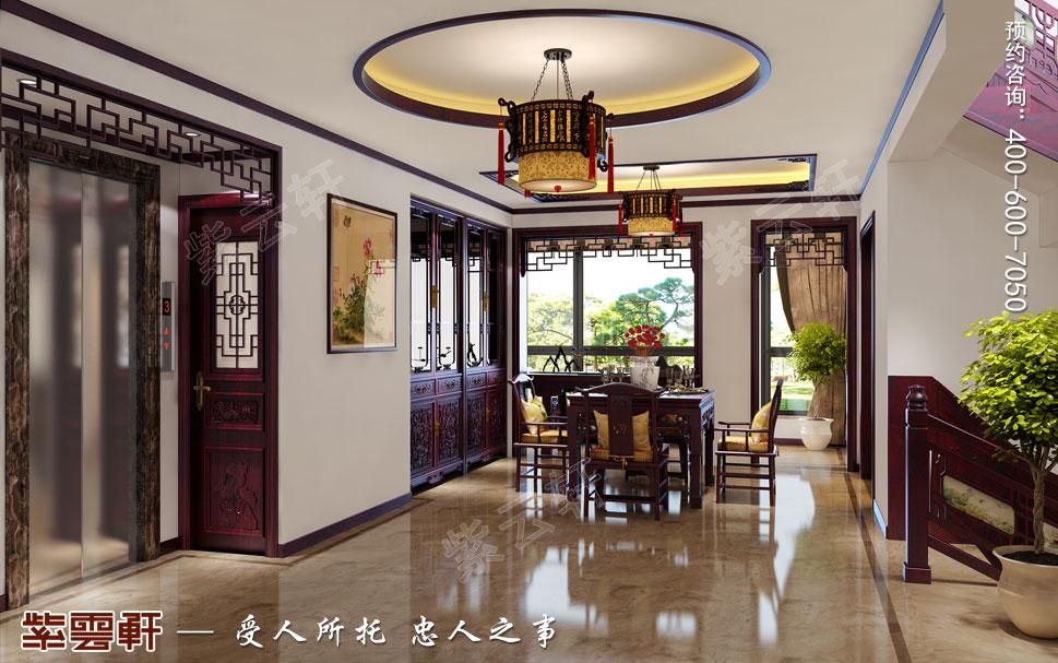 别墅餐厅简约古典中式效果图