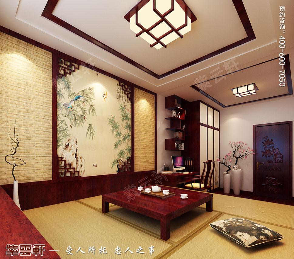 别墅茶室简约中式装修风格