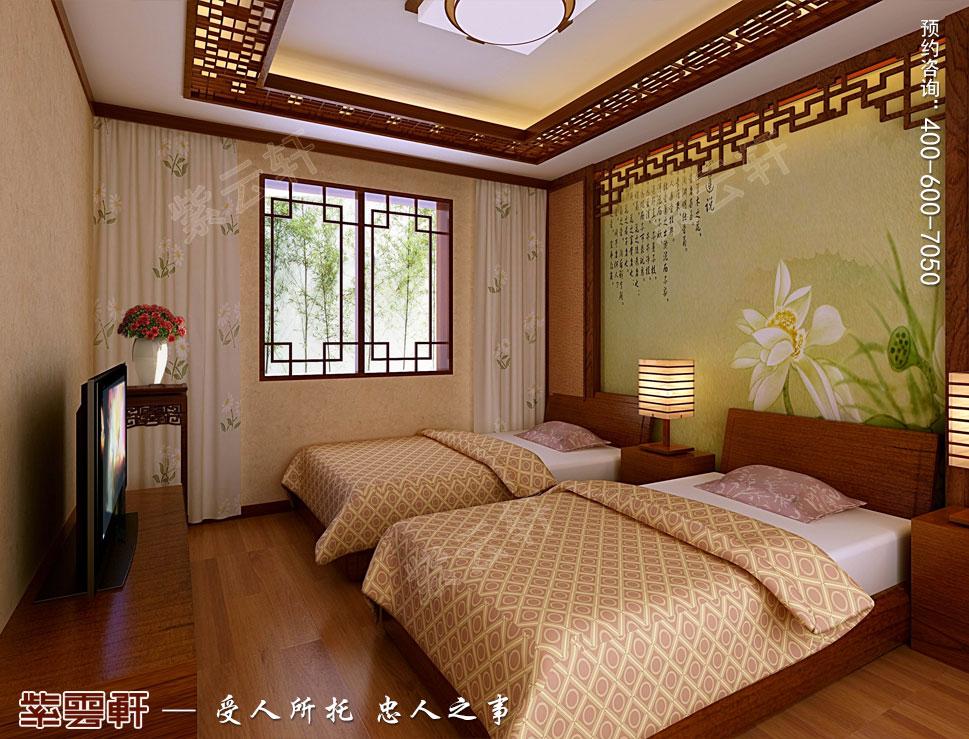 别墅客房简约中式装修风格