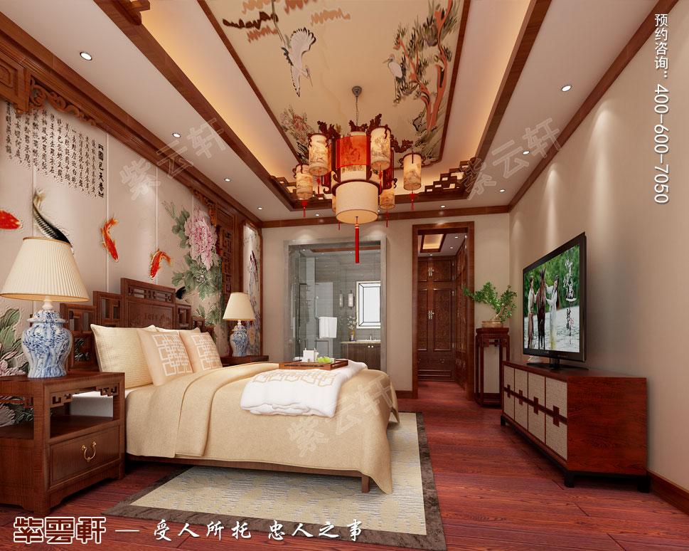 别墅主卧简约中式装修风格