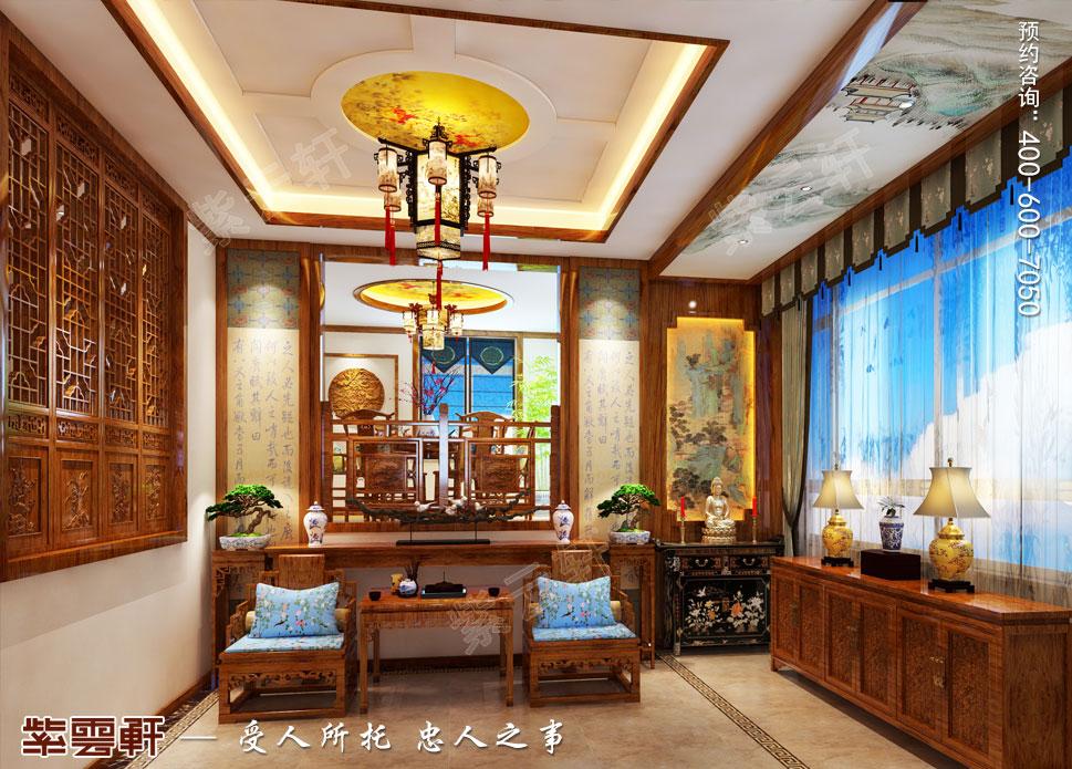 别墅玄关简约中式装修风格