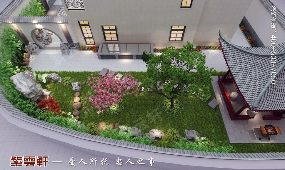 中式别墅装修花园效果图